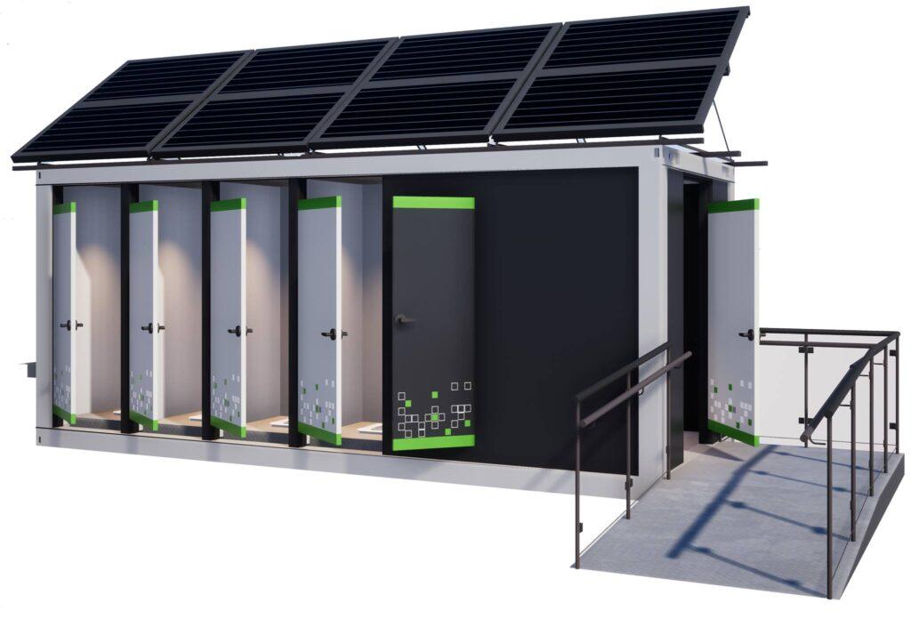 автономный санитарный модуль с пандусом