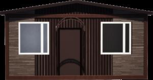 Дачный домик 30 м2 (вид спереди)
