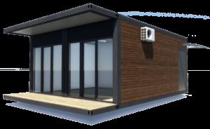 Модульный дом 30 м2 с террасой