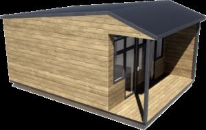 Дачный домик 35 м2 с террасой