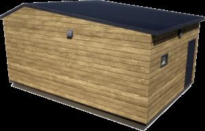 Дачный домик 35 м2 с террасой (вид сзади)