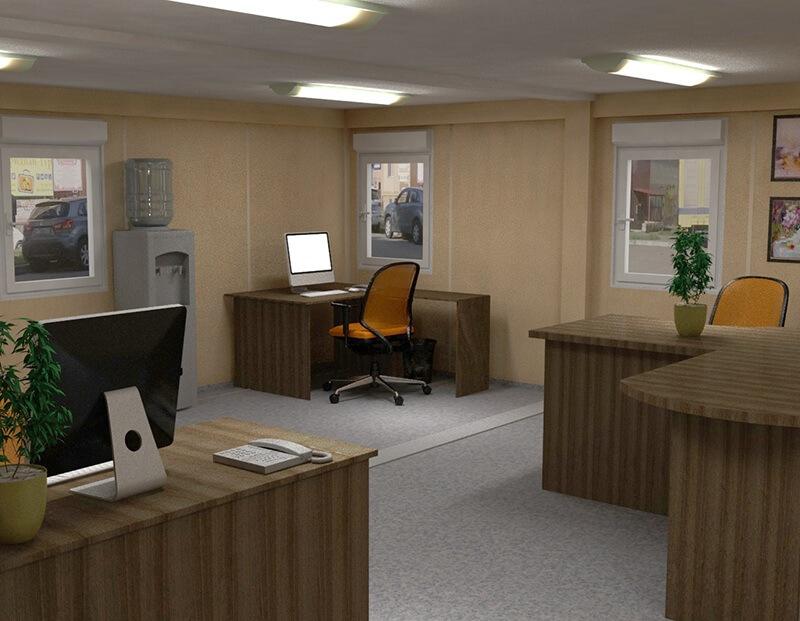 Удобства модульного офиса