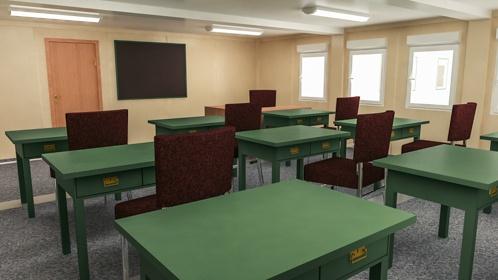 Школа из модулей вид внутри