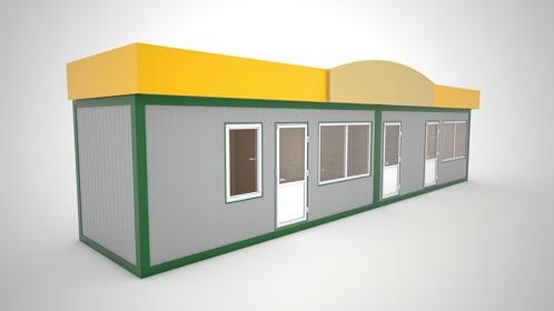 Модульный торговый павильон